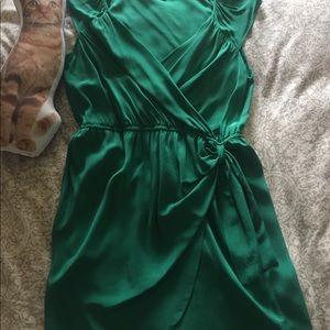 Charlie jade emerald silk dress